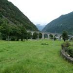 Kreisviadukt im italienischen  Brusio