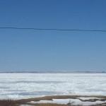 Labrador über die Straße von Belle Isle gesehen