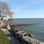 am Ufer des Erie Sees