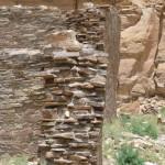 Chaco Canyon - im Mauerkern die Mörtelschicht