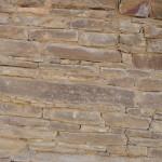 Chaco Canyon - aussen die Steine wie eine Trockenmauer