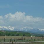 in der Ferne Rocky Mountains