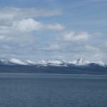 Yellostone Lake mit Rocky Mountains