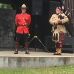 Angehöriger der Royal Canadian Mounted Police in seiner roten Uniform