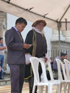 Antigua - der Bürgermeister ganz traditionell