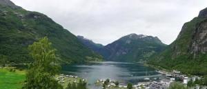 Fjordpanorama von Geiranger aus