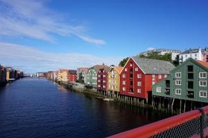 Trondheim - Speicherhäuser am Hafen