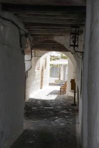 Patmos - eng, verwinkelt und viele Stufen in der Chora