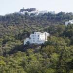 Patmos - Mitte: Kloster um die Höhle der Apokalypse, oben: Johanneskloster
